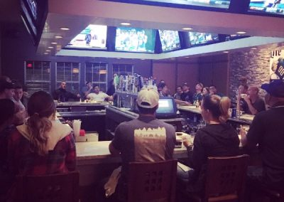 Enjoy watching your favorite sports teams on our 20 flatscreens